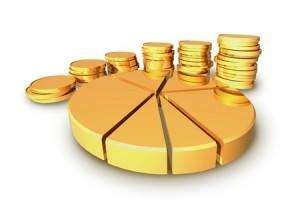 schulden geld goud diagram